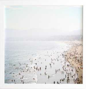LA SUMMER Framed Wall Art -20x20-White Frame - Wander Print Co.