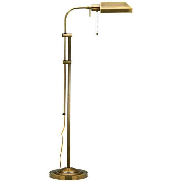 Antique Brass Adjustable Pole Pharmacy Metal Floor Lamp - Lamps Plus