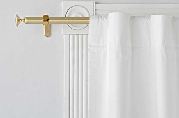"""Single 28-48"""" Gold Curtain Rod - Crate and Barrel"""