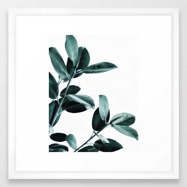 Natural obsession Framed Art Print - 22x22 - vector white frame - Society6