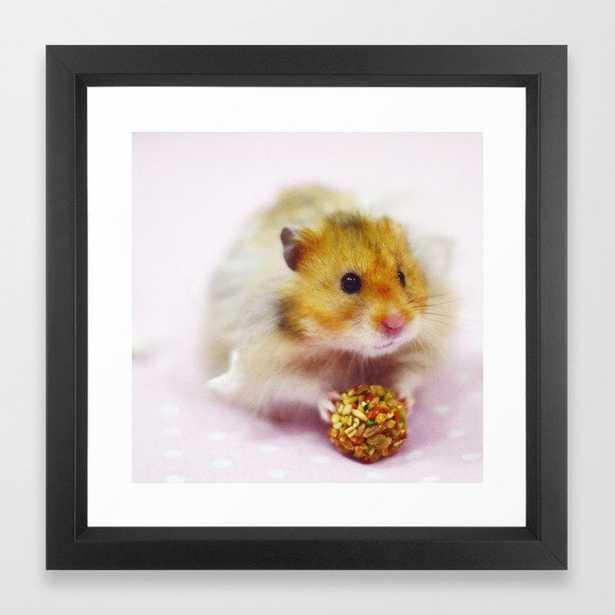 Cute Simon the Hamster Framed Art Print - Society6