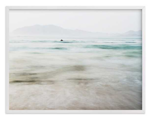 """The Pacific - 54"""" x 40"""" - white wood frame - Minted"""