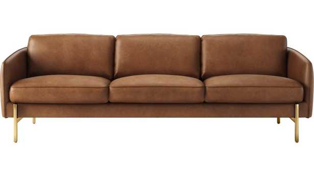 Hoxton Saddle Leather Sofa - CB2