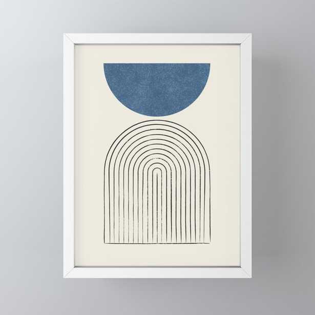 Arch Balance Blue Framed Mini Art Print - Society6