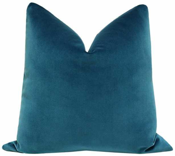 "Signature Velvet // Baltic Blue, 20"" Pillow Cover - Little Design Company"