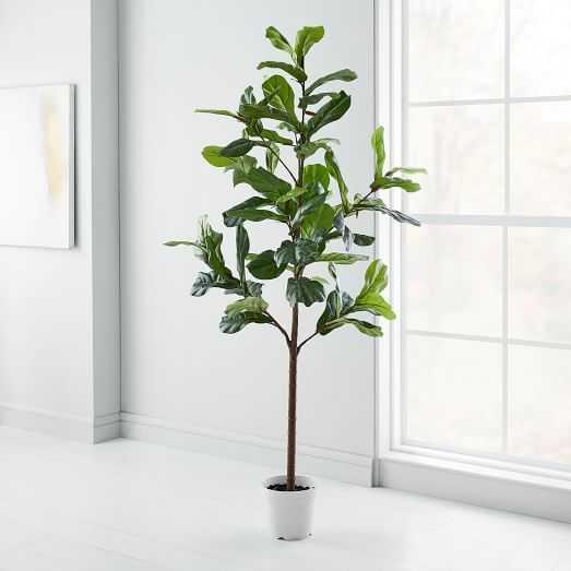 Faux Fiddle Leaf Fig Tree / 7' - West Elm