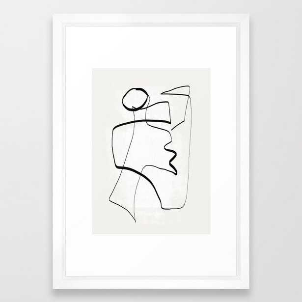 """Abstract line art 6  - 15"""" x 21"""" - vector white - Society6"""