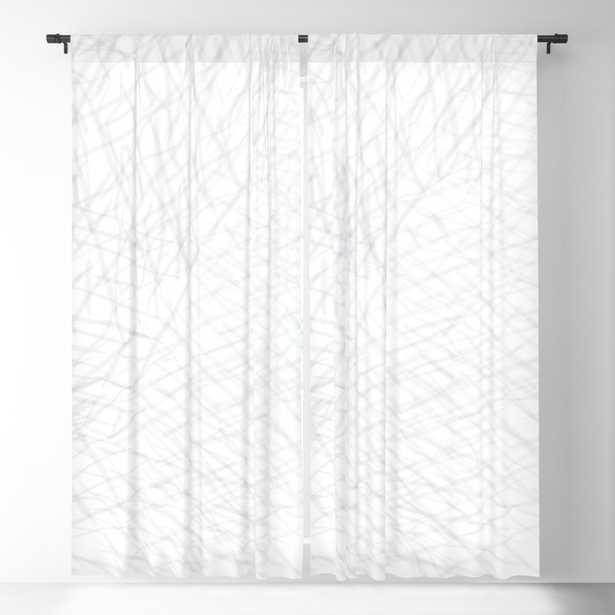 Linear Elegance Abstract Art Blackout Curtain Set - Society6