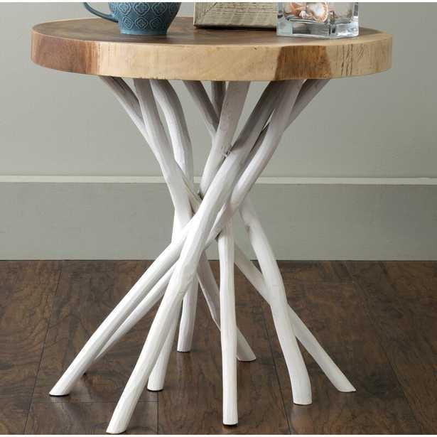 Aloysius Solid Wood Tree Stump End Table - Wayfair