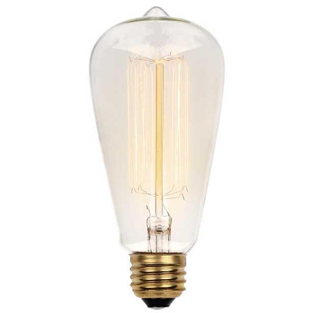 413200 60 Watt, ST20 Incandescent, Dimmable Light Bulb, Vintage Yellow (2450K) E26/Medium (Standard) Base - Wayfair