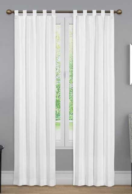 Barretti Cotton Blend Solid Sheer Tab Top Curtain Panels (set of 2) - Wayfair