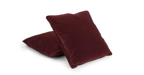 Lucca Garnet Red Pillow Set - Article