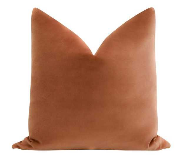 """Sonoma Velvet // Terracotta - 20""""x20"""" - Little Design Company"""
