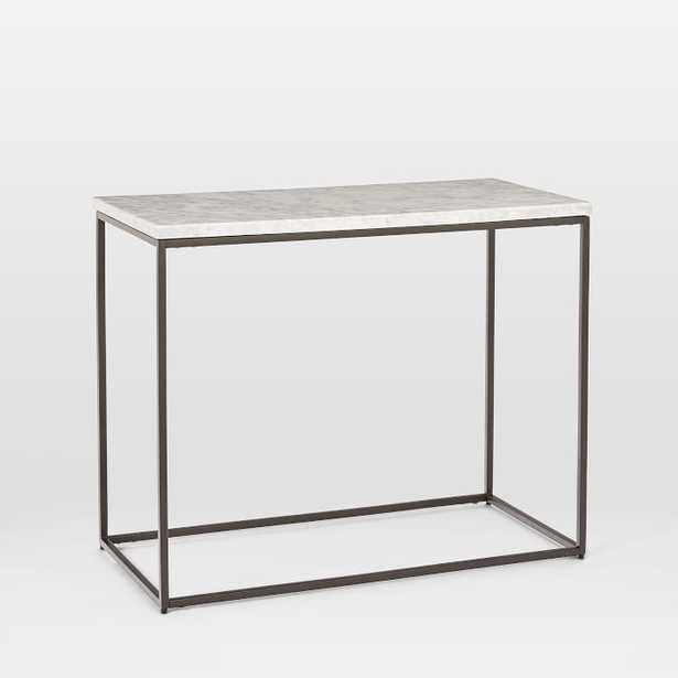 Streamline Side Table, Marble, Antique Bronze, Individual - West Elm