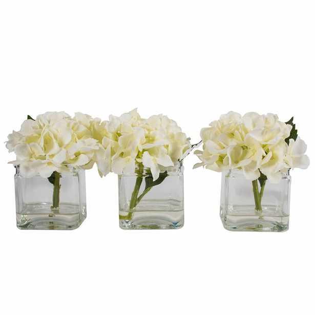 Hydrangeas Floral Arrangements and Centerpieces in Vase - Wayfair