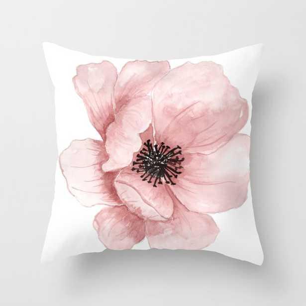 :D Flower Throw Pillow - 16x16 - Society6