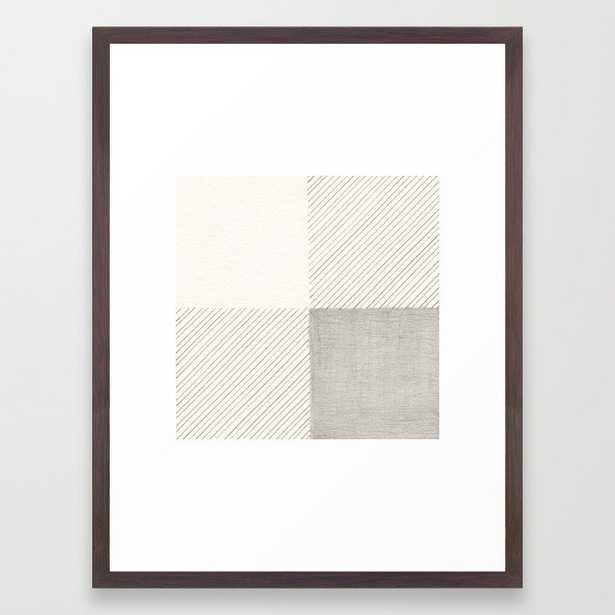 Buffalo Check Pencil Drawing Framed Art Print - Society6