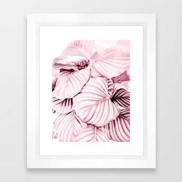Long embrace - pink Framed Art Print - Society6