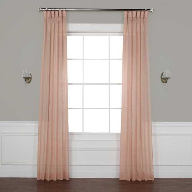 "Bowley Solid Sheer Tab Top Single Curtain Panel 120"" - Wayfair"