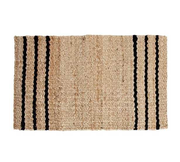 "Three Stripe Natural Fiber Doormat, 18 X 30"", Natural - Pottery Barn"