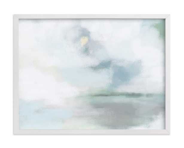 """Monday Blues - 24"""" x 18"""" - Classic White Frame - Minted"""