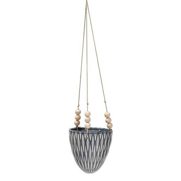 Ashok Round Ceramic Hanging Planter - Wayfair