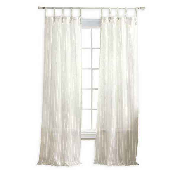 "Laguna Striped Semi-Sheer Tab Top Curtain Panels (Set of 2) 95"" - Wayfair"