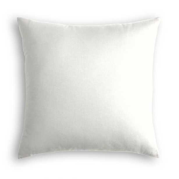 Ivory Classic Linen Throw Pillow - Linen & Seam