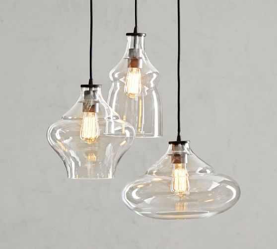 McCarthy 3-Light Glass Pendant - Pottery Barn