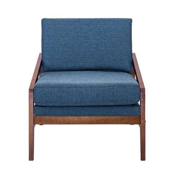 Provincetown Mid-Century Lounge Chair_Navy Blue - Wayfair