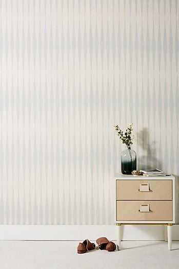 Magnolia Home Handloom Wallpaper -Light grey - Anthropologie