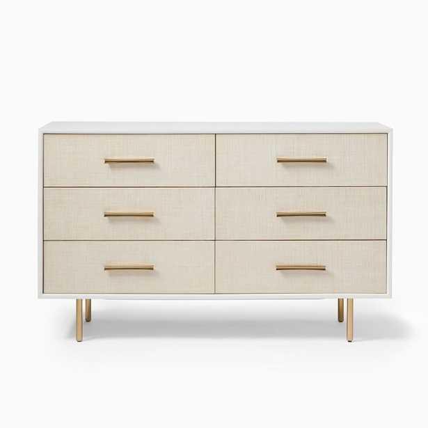 Margot Raffia 6-Drawer Dresser - West Elm