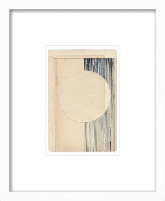 "Not a Circle (False 4) white wood frame 8"" x 11"" - Artfully Walls"