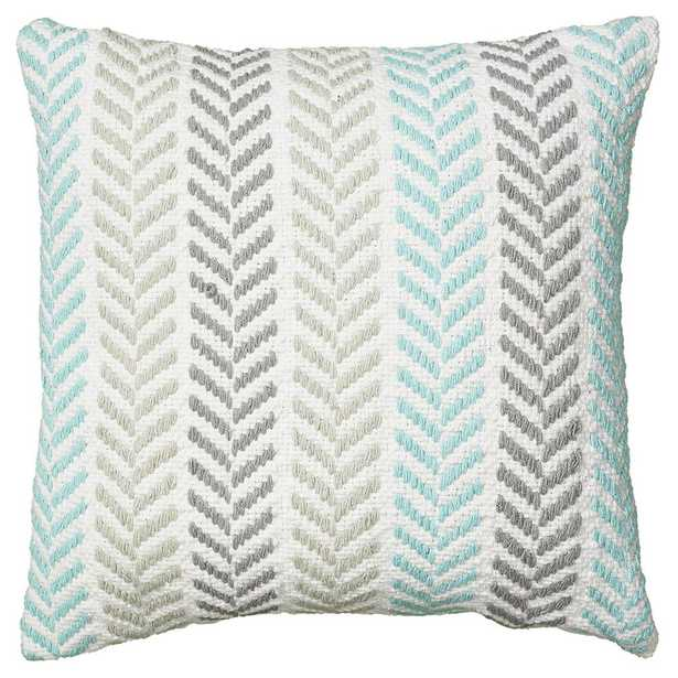 Altair 18 in. x 18 in. Turquoise Decorative Pillow, Blues - Home Depot
