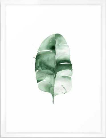 "Banana Leaf no. 6 Framed Art Print, 20 ""x 26""_scoop white - Society6"