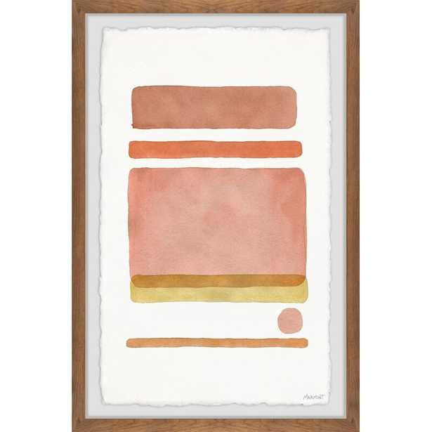 Dot in Between Lines V' by Marmont Hill Picture Frame Print on Paper - AllModern