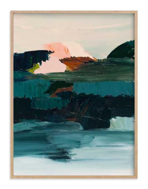 "Curaçao Art Print / 31.3"" x 41.3"" (Frame) 30""x40"" (Artwork) / Natural Raw Wood Frame - Minted"