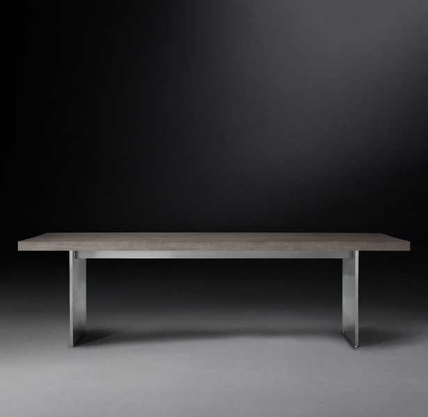 "CHANNEL RECTANGULAR DINING TABLE 108"" - RH"