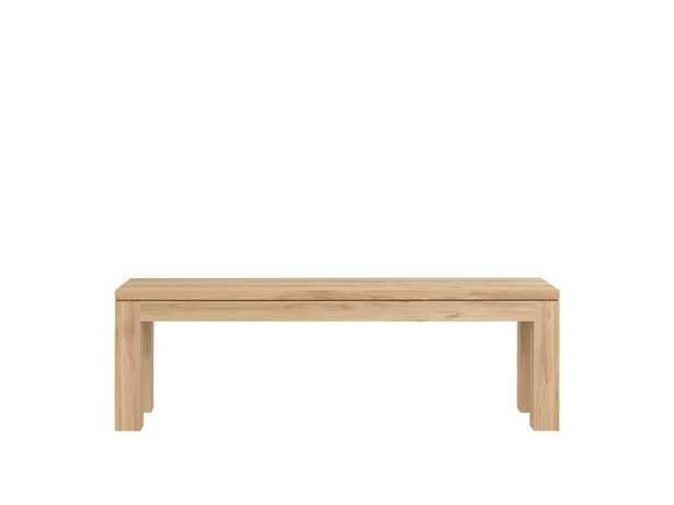 Oak Straight Bench - Burke Decor