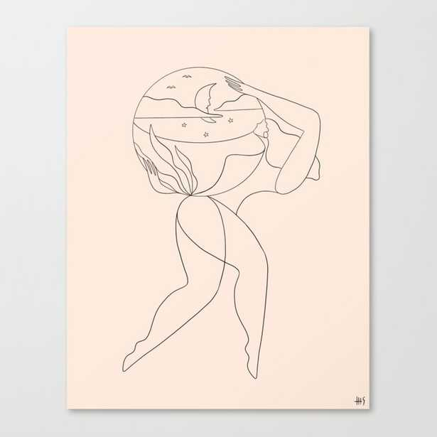The day she realized she could Canvas Print // 18x23 - Society6