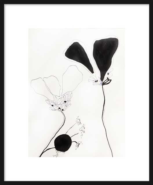 Flower Study 1 - Framed - Matte Black Metal Frame - Artfully Walls