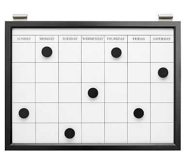 Magnetic Whiteboard Calendar, Black - Pottery Barn