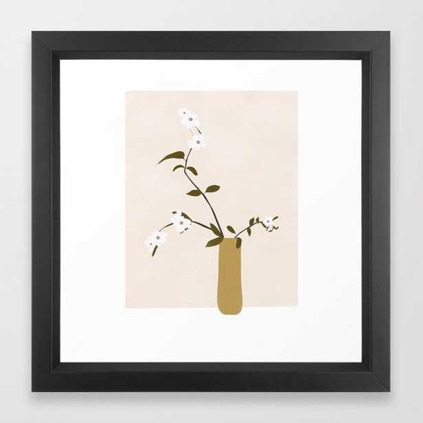 Flowers in the Vase Framed Art Print - 12x12, vector black frame - Society6