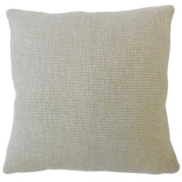 Iestyn Solid Pillow Pewter - down insert - Linen & Seam