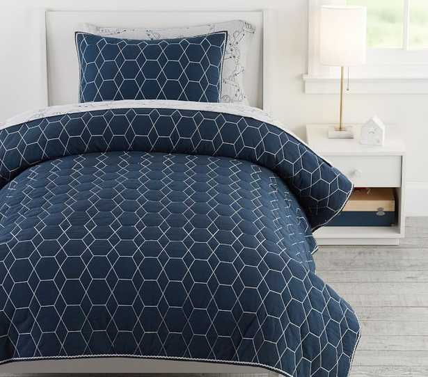 Pw Honeycomb Quilt, Twin, Nightshade, - Pottery Barn Kids