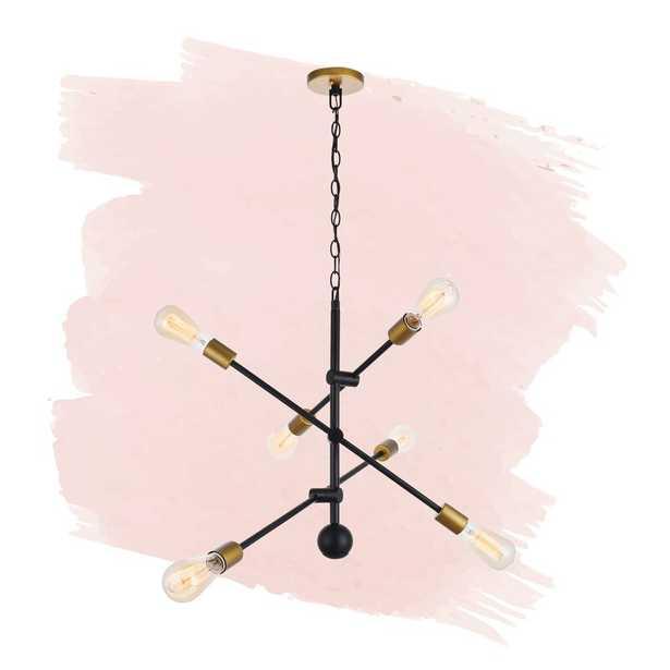 Everett 6 - Light Sputnik Modern Linear Chandelier - Wayfair