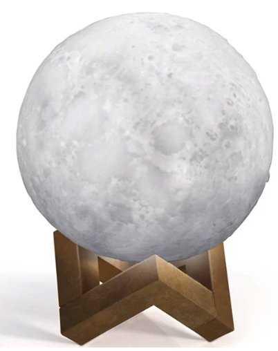 "Walnut 3D Moon Light 4"" Table Lamp - Wayfair"