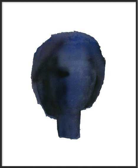 "Blue Head Wall Art, 20"" x 16"" Print Framed - Artfully Walls"
