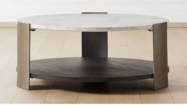 BERET MARBLE 2-TIER COFFEE TABLE - CB2