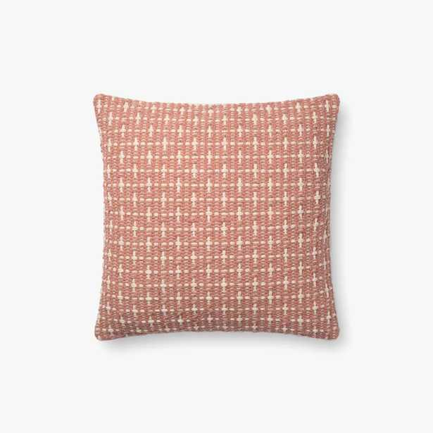 """P1096 MH BLUSH- 18"""" Pillow with Poly Insert - Loma Threads"""